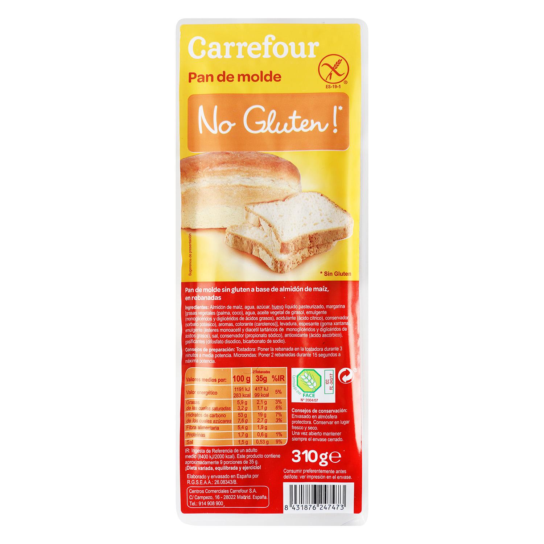 Pan de molde - Sin Gluten