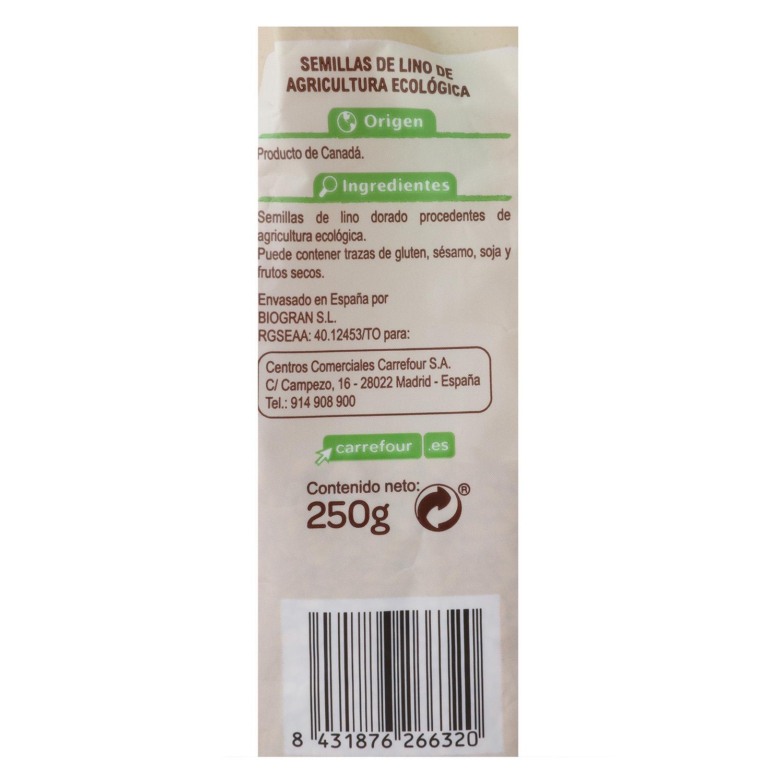 Semillas de lino dorado ecológicas Carrefour Bio 250 g. -