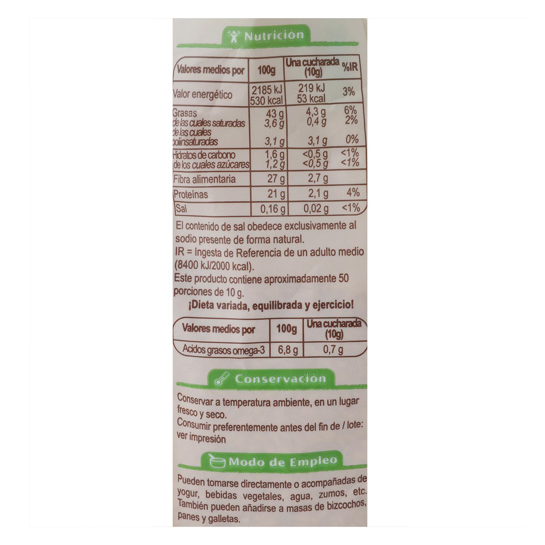 Semillas de lino dorado ecológicas Carrefour Bio 250 g. - 2