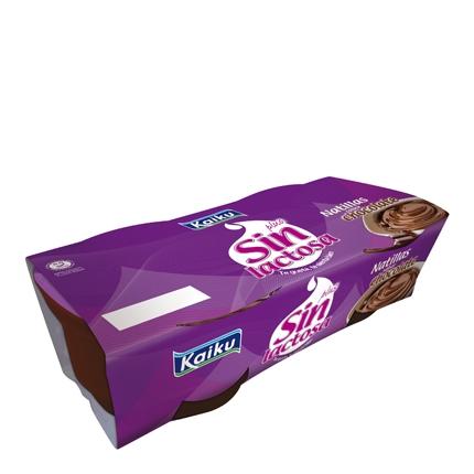 Natillas de chocolate Kaiku - Sin Lactosa 250 g.