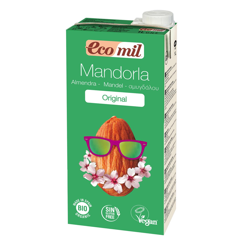 Bebida de almendra ecológica Ecomil sin lactosa y gluten brik 1 l.