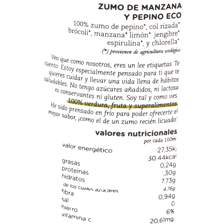 Zumo de pepino y manzana BIO 250 ML - 4