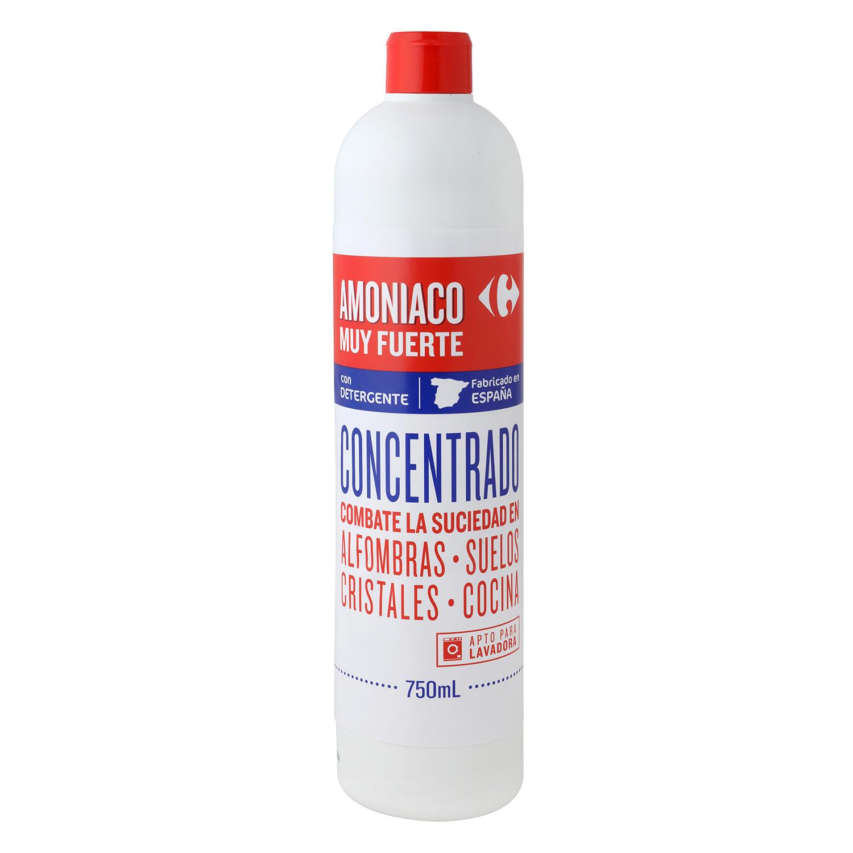 Amoniaco muy fuerte con detergente Carrefour 750 ml.
