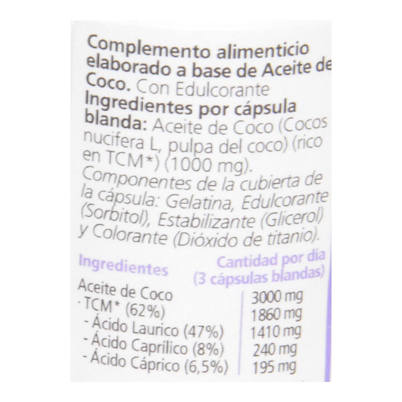 Cápsulas de aceite de coco Sanon 30 ud. - 2