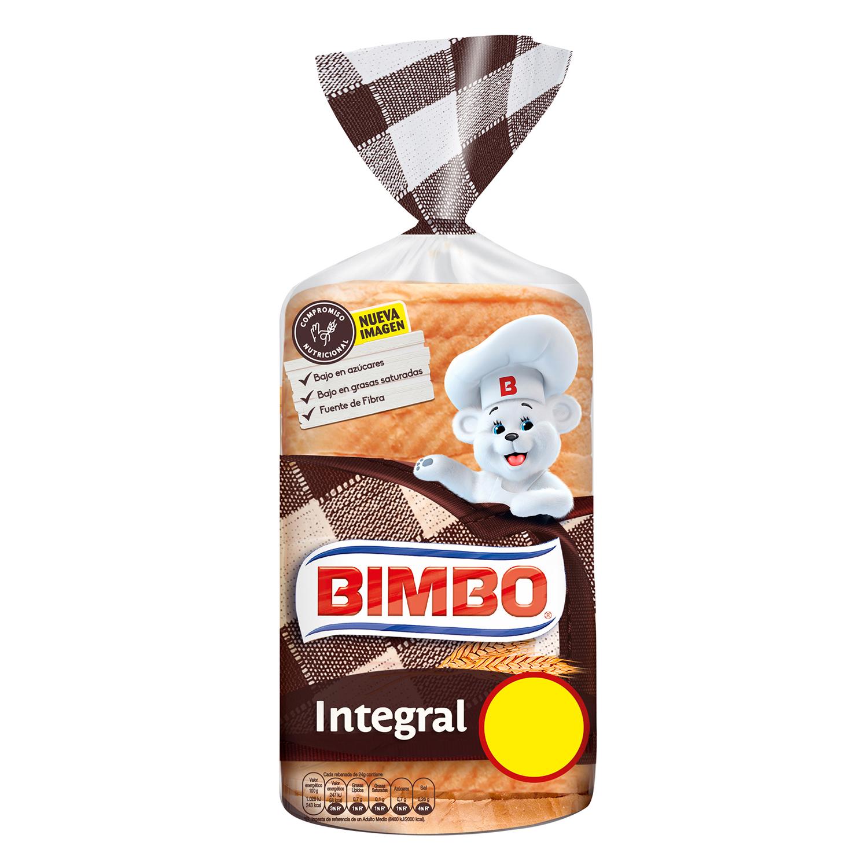 Pan de molde integral Bimbo 480 g.
