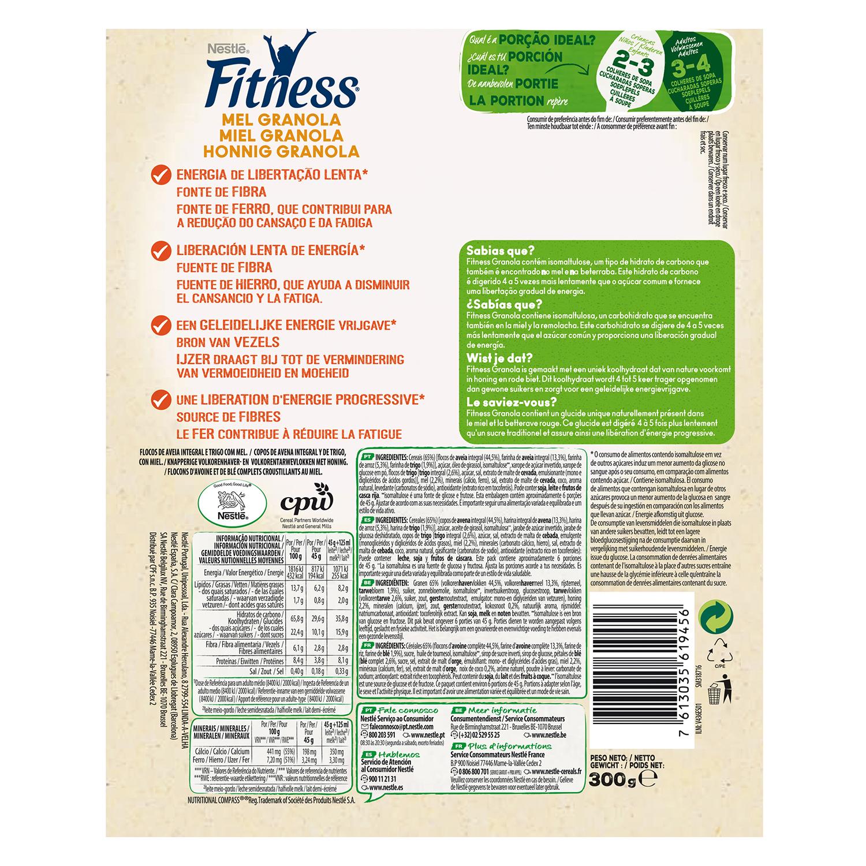 Cereales de avena integral con miel Fitness Nestlé 300 g. -