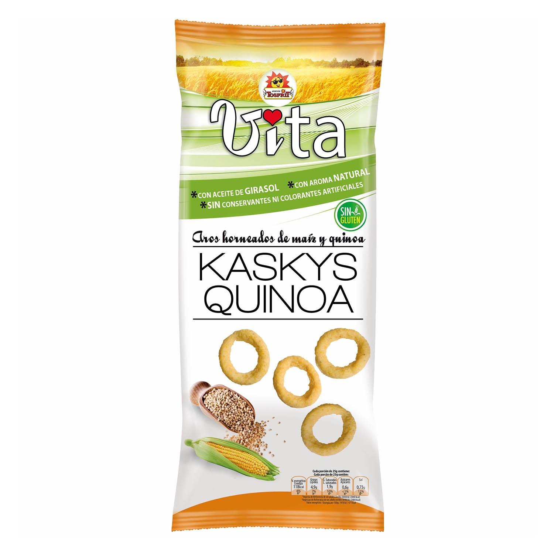 Aros de maíz y quinoa Tosfrit Vita sin gluten120 g.