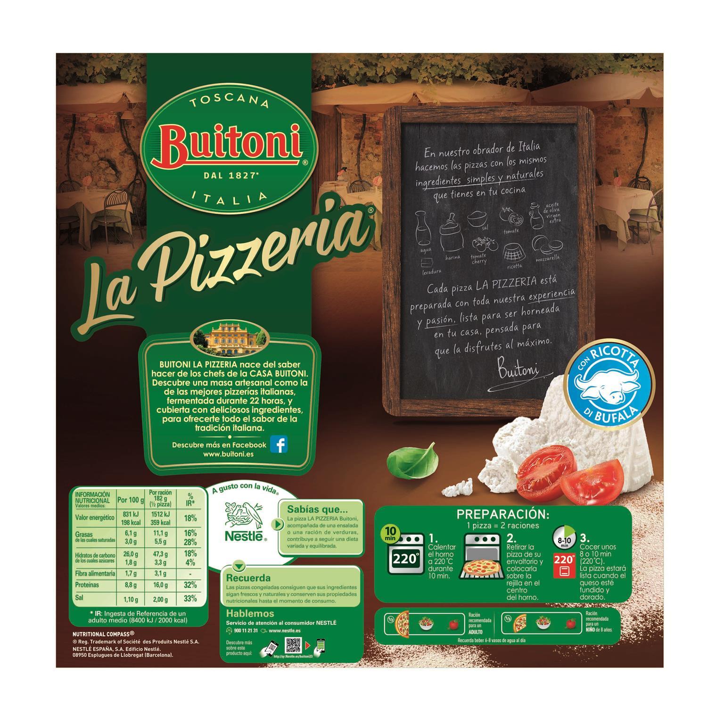 Pizza Ricota de búfala La Pizzeria Buitoni 365 g. - 2