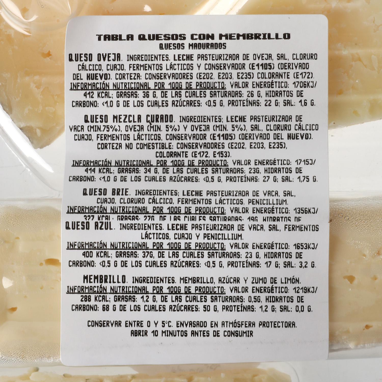 Tabla quesos con membrillo - 2