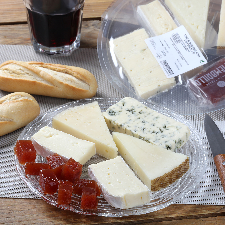 Tabla quesos con membrillo -