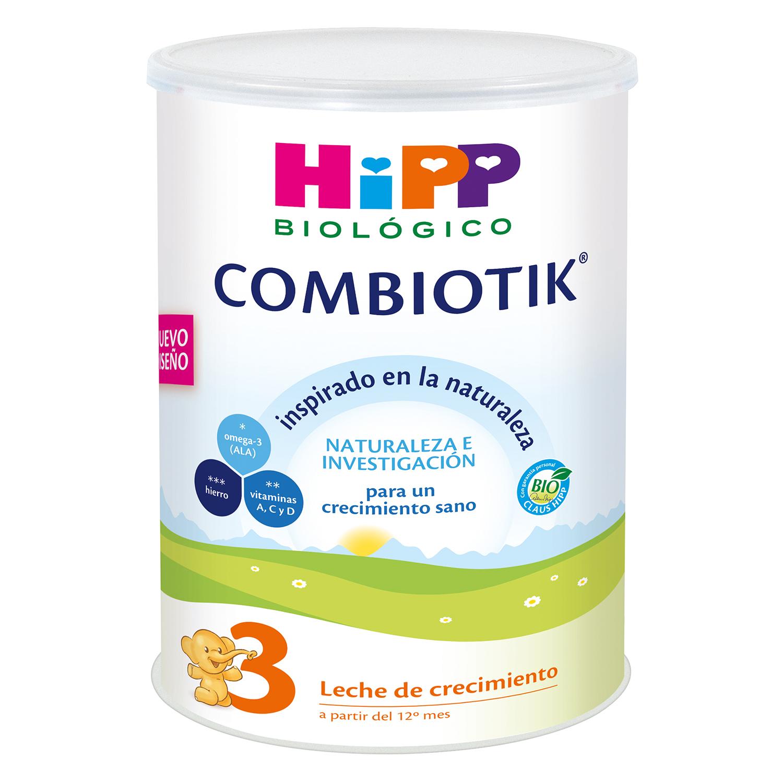 Leche 3 de crecimiento ecológica Combiotik Hipp 800 g.