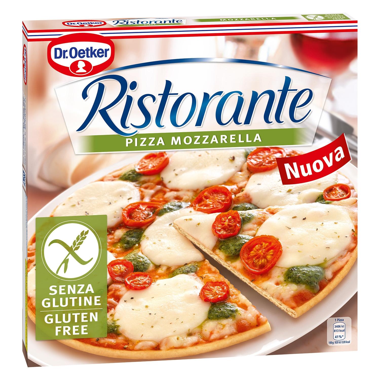 Pizza mozzarella sin gluten
