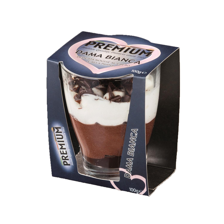 Copa mousse de cacao Premium Dama Bianca100 g.