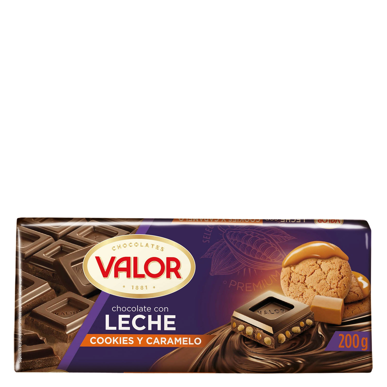 Chocolate con leche, cookies y caramelo Valor - Carrefour ...