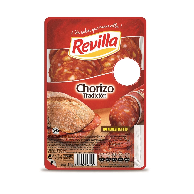 Chorizo Lonchas Revilla 80 g.