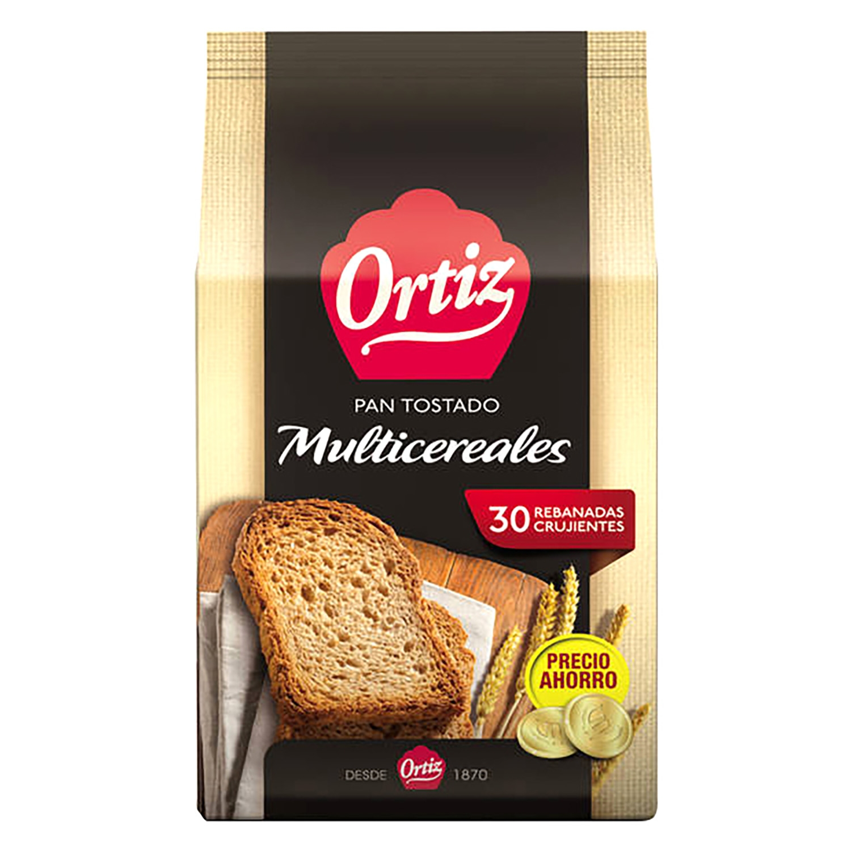 Pan tostado multicereales Ortiz 240 g.