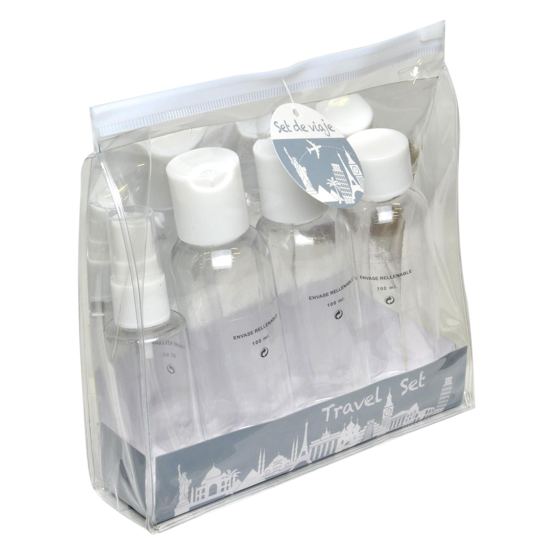 Set de viaje Botellas rellenables de 3x100 ml + 50 ml. 1 ud.