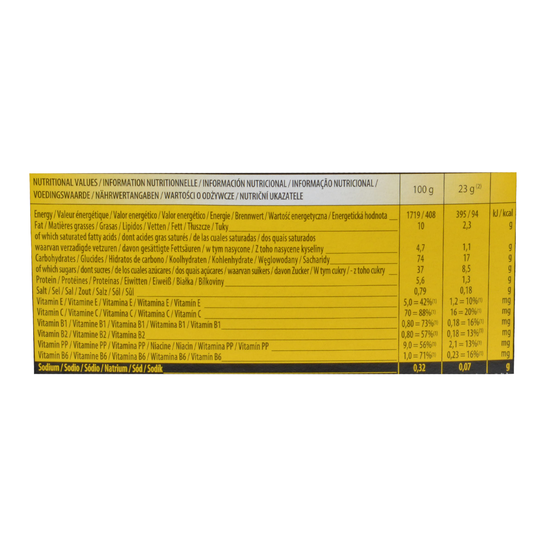 Barrita energética Isostar sabor avellana, chocolate y guaraná 6 ud. - 2