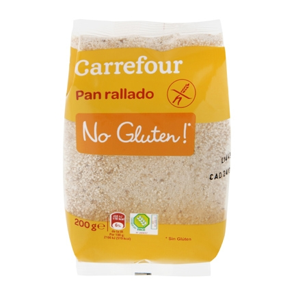 Pan rallado Carrefour sin gluten 200 g.