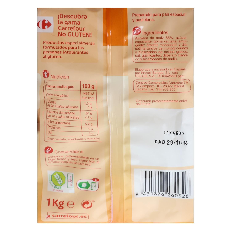 Harina para pan y pastelería Carrefour sin gluten  1 kg. -