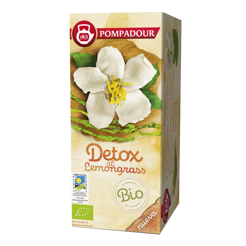 Infusión detox al lemongras en bolsitas ecológica Pompadour 18 ud.