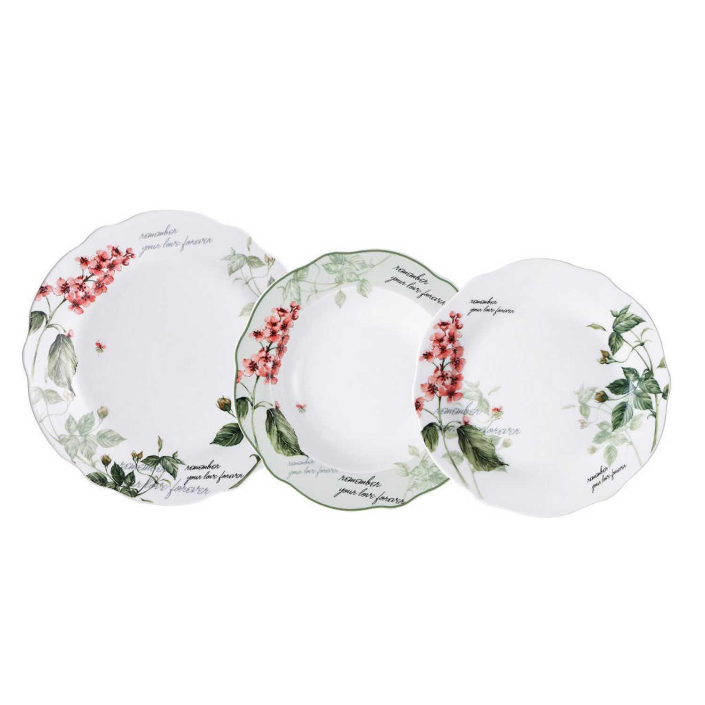 Juego de vajilla de porcelana remember 18pz decorado - Vajilla de porcelana ...