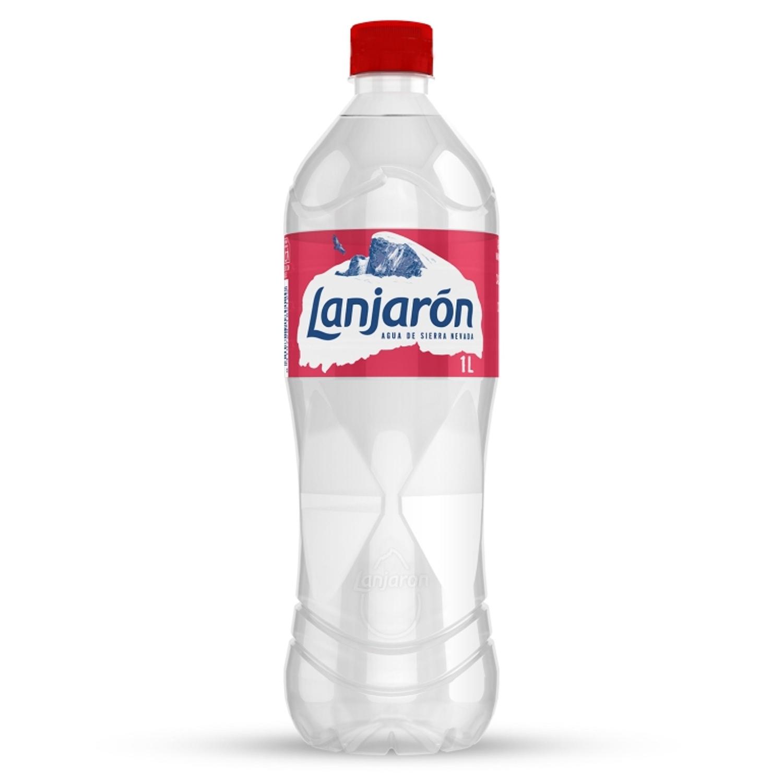 Agua mineral Lanjarón natural 1 l.