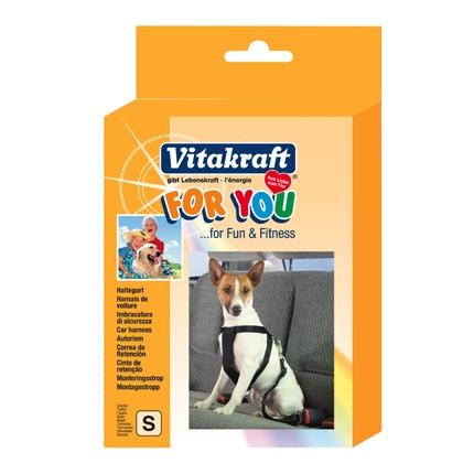 Arnés de Seguridad de Coche para Perro Vitakraft Talla S
