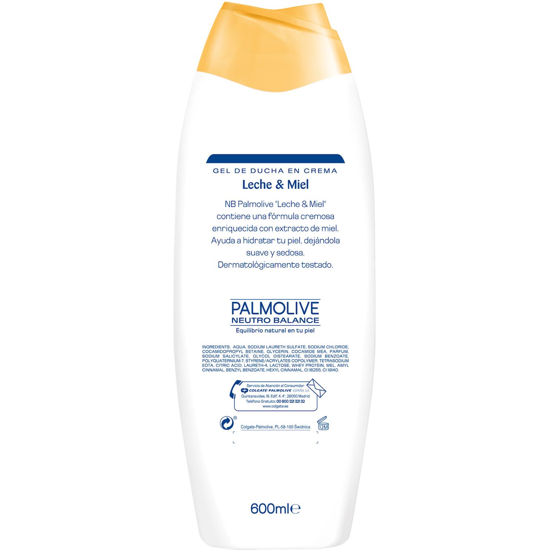 Gel de ducha con miel y leche hidratante NB Palmolive 600 ml. -