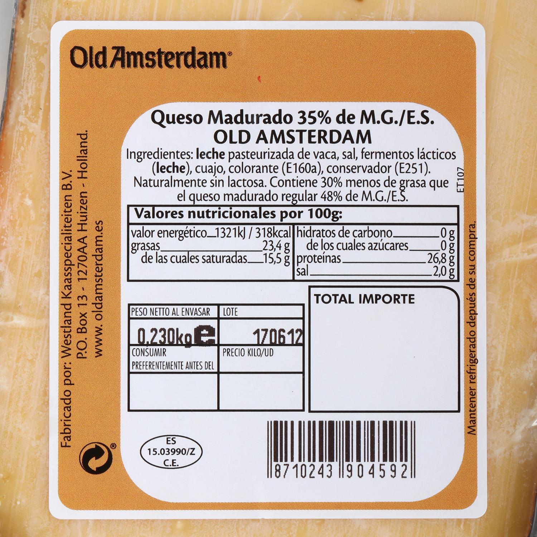Queso curado viejo light Old Amsterdam Westland cuña 230 g - 2
