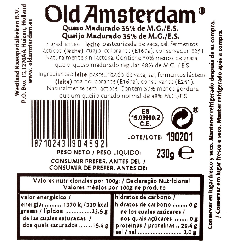 Queso curado viejo light Old Amsterdam Westland cuña 230 g - 3