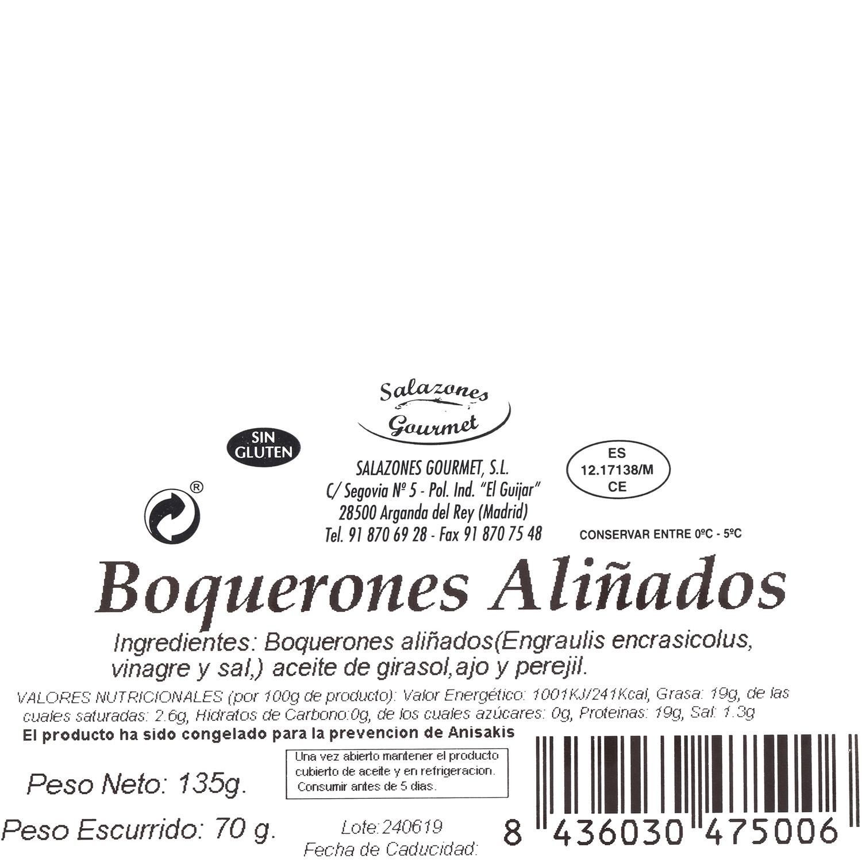 Boquerón aliñado, Salazones Gourmet 70 g - 3