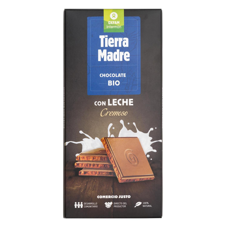 Chocolate con leche cremoso ecológico Oxfam Intermón 100 g.
