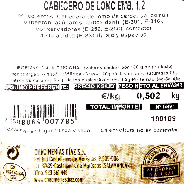Cabecera de lomo Emb. Díaz al corte 150 g aprox - 3