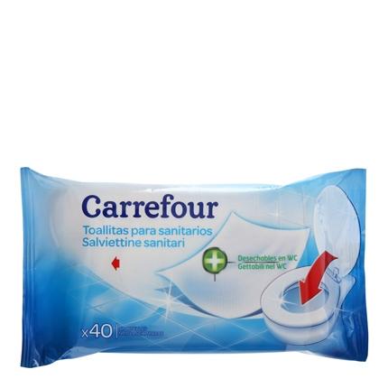 Toallitas para sanitarios Carrefour 40 ud.