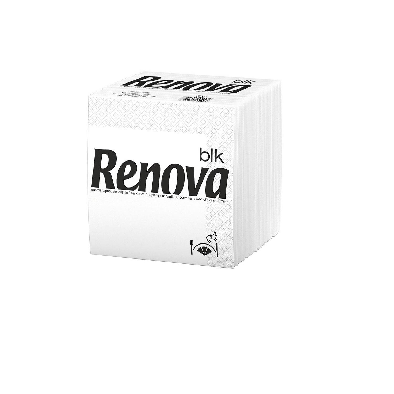 Servilletas blancas 2 capas de celulosa Renova 90 ud.
