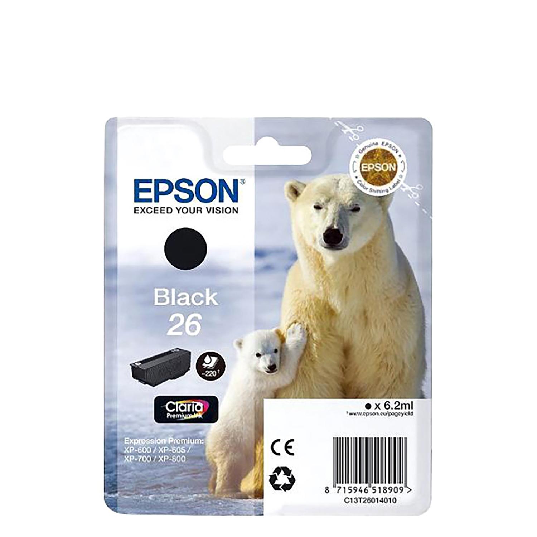 Cartucho de Tinta Epson Claria 26 - Negro -