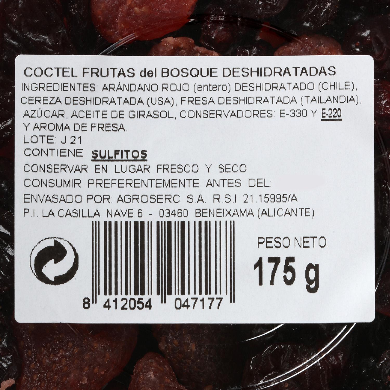 Coctel frutas del bosque deshidratadas -