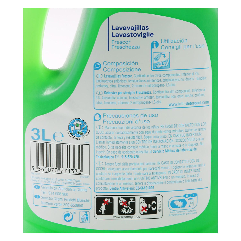 Lavavajillas a mano diluido Producto blanco 3 l. -