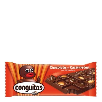 Chocolate con Almendras y Cacahuetes