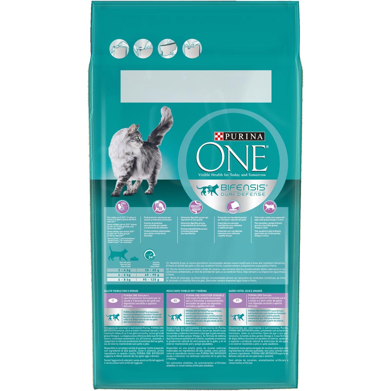 Purina ONE Bifensis Pienso para Gato Digestión Sensible Salmón y Cereales 1,5Kg - 2