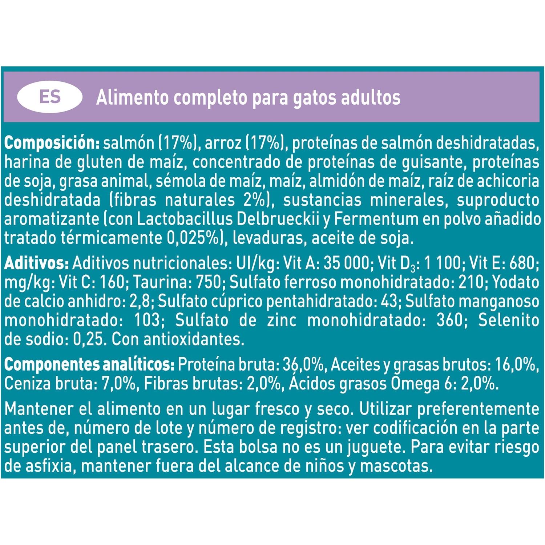 Purina ONE Bifensis Pienso para Gato Digestión Sensible Salmón y Cereales 1,5Kg - 3