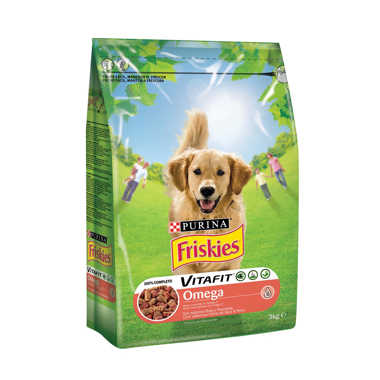 Comida para perros Omega con Buey y Pescado Friskies - Carrefour ...