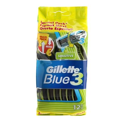 Maquina desechable Gillette-Blue 3 12 ud.