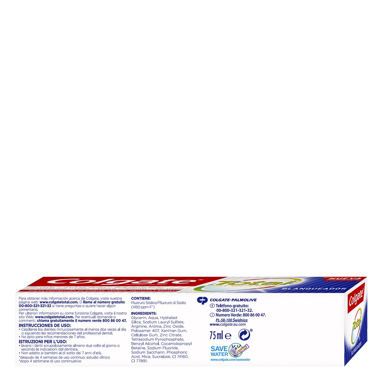 Dentífrico Total blanqueador Colgate 75 ml. - 4