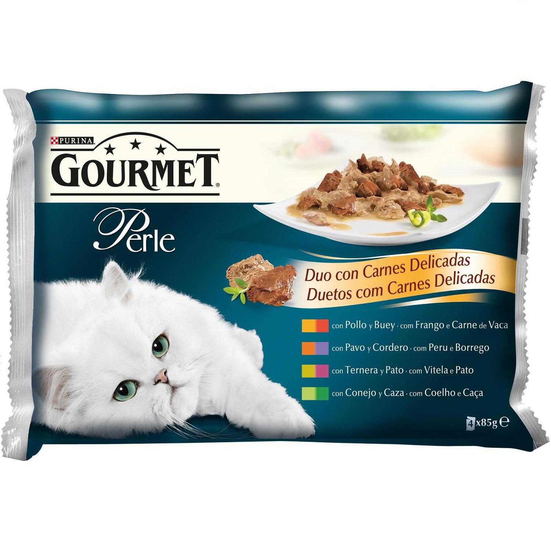 Comida para gatos Finas Láminas DUO con Carnes Delicadas Surtido