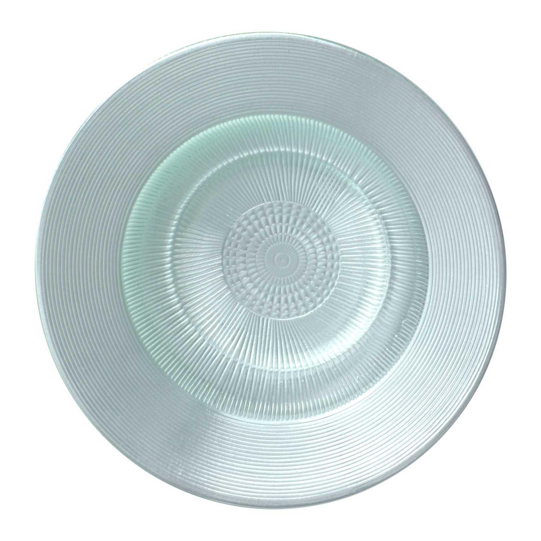 Plato Postre Vidrio Saturno 21 cm - Transparente
