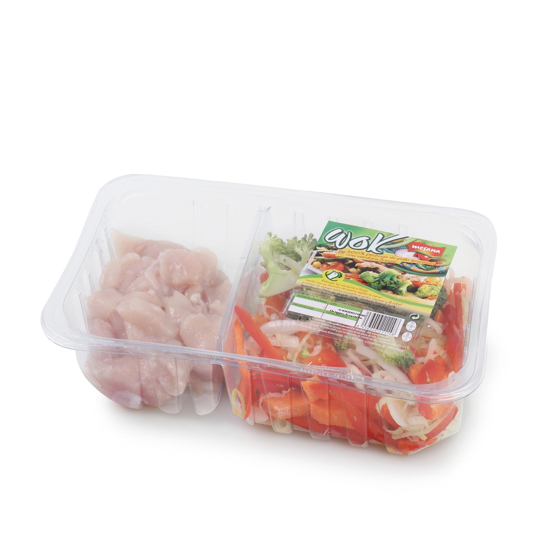 Wok verduras pollo Mesana 500 g