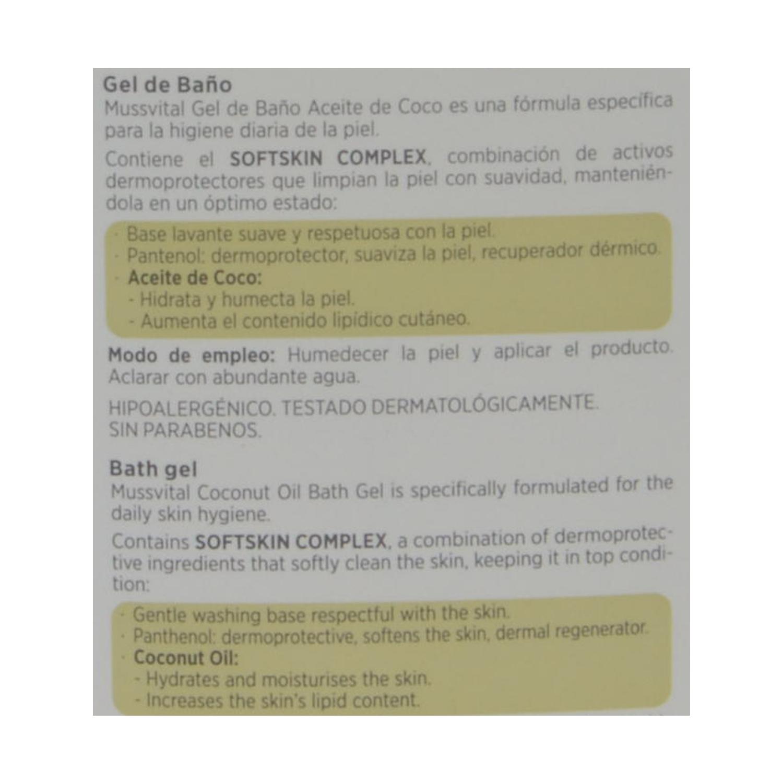Gel de baño de aceite de coco Essentials Hipoalergénico - 2