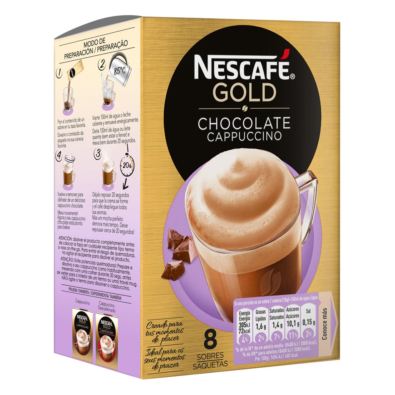 Café soluble natural vienés con chocolate Nescafé 144 g.